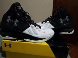 UA UNDER ARMOUR CURRY 2 Suit And Tie White Black sz 8.5 1259