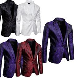 US Mens Formal Blazer Suit Jacket Tux Waistcoat Trousers Wed