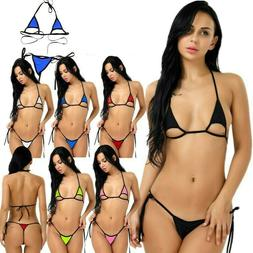 US Sexy Women's Bikini Swimwear Bra G-string Set Swimsuit Ba