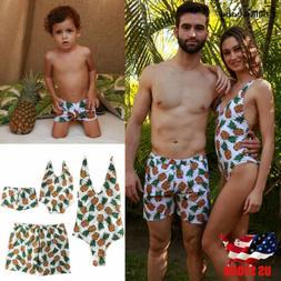 USA Family Matching Women Men Girls Boys Bikini Bathing Suit