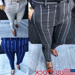 USA Men Casual Slim Fit Skinny Business Formal Suit Dress Pa