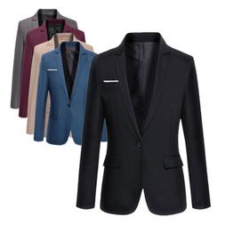 USA Stylish Mens Casual Slim Fit Formal One Button Suit Blaz