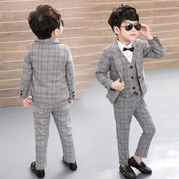Vest + Blazer + Pants 3pcs Kids Child Boys <font><b>Suits</b