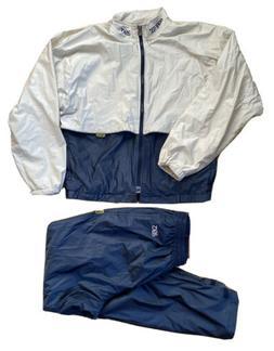 Vintage Asics Gore Tex Blue And Tan Track Suit Size L