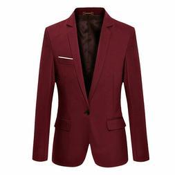 Vobaga Men's Slim Fit Stylish Casual One Button Suit Coat Ja