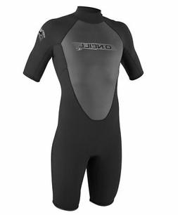 O'Neill Wetsuits Mens 2mm Reactor Spring Suit, Black/Pacific