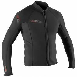 O'Neill Wetsuits Mens Superlite Jacket, Black/Black, XX-Larg