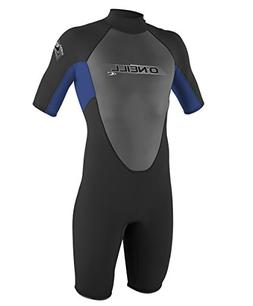 O'Neill Wetsuits Youth 2 mm Reactor Spring Suit, Black/Pacif