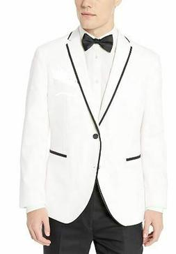 White One Button Small Dinner Jacket With Black Trim- Suit C