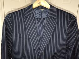 Brooks Brothers Womans Navy Pinstripes Pant Suit Stellita Fi