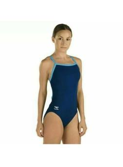 Speedo Wome's One Piece Swimsuit - Solid Flyback Training Su