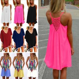 Women Beach Dress Bikini Cover Up Kaftan Holiday Long Tops D