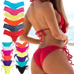 Women Bikini Thong Bottoms Beach Swimwear Brazilian G-String