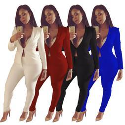 Women Blazers Suit Long Sleeve Office Lady Sexy Blazers Jack