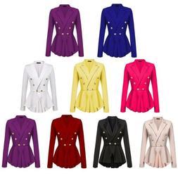 Women OL Work Office Formal Long Sleeve Slim Blazer Suit Jac