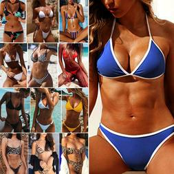 Women Push-up Padded Bra Bandage Bikini Set Swimsuit Swimwea