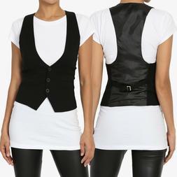 TheMogan Women S~3X Dressy Casual Tuxedo Classic Vest Fully