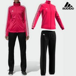 ADIDAS WOMEN'S BACK 2 BASICS 3 STRIPES TRACKSUIT JACKET PANT