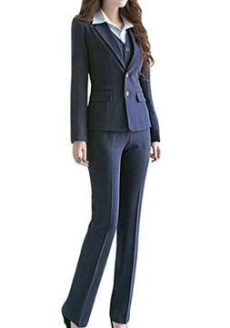 MFrannie Women's Business Office OL Work Blazer Jacket and P