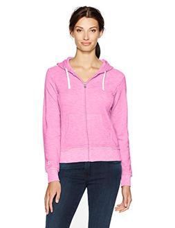 Champion Women's Distressed Full Zip Hoodie , Pink, XL