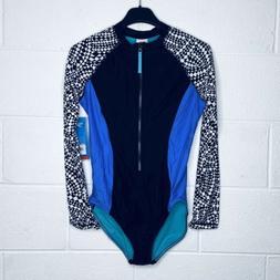 Speedo Women's Medium Swim Suit Long Sleeve One Piece Black