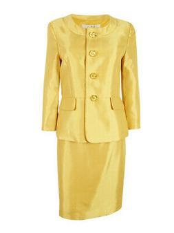 Le Suit Women's Monte Carlo Faux Pocket Skirt Suit