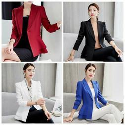 Women's OL Office Lady Long Sleeve Casual Blazer Suit Jacket