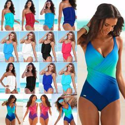 Women's One Piece Swimwear Monokini Swimsuit Push Up Bathing