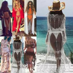 Women's Sheer Bikini Cover Up Swimwear Swimsuit Bathing Suit
