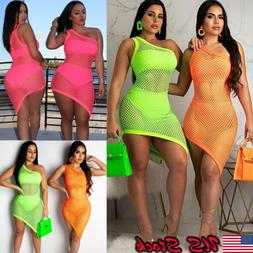 Women's Sheer Mesh Bikini Cover Up Swimwear Swimsuit Bathing