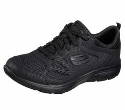 Women's Skechers Summits Suited Black 12982/BBK with Memory