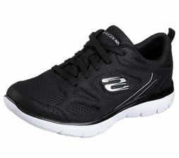 Women's Skechers Summits Suited Black White 12982/BKW with M