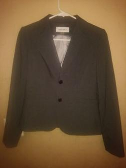 Calvin Klein Women's Two-Button Suit Blazer Jacket Business