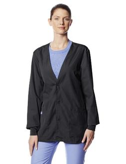 Cherokee Women's Workwear Scrubs Cardigan Warm-up Jacket, Bl