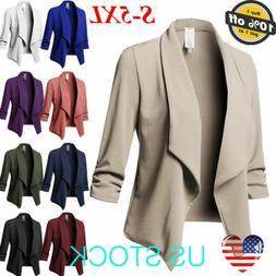 Women Slim OL Suit Casual Blazer Jacket Coat Tops Outwear Lo