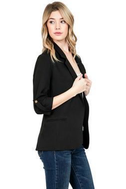 Women Slim Suit Casual Blazer Jacket Coat Tops Outwear Long