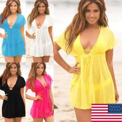 Women  Swimsuit Summer Cover Up Kaftan Beachwear Swimming Ba