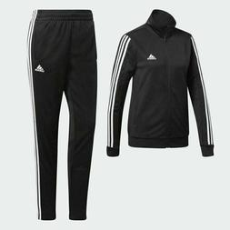 adidas Women WTS Team Sports Track Suit Black White 3 Stripe