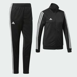 adidas Women WTS Team Sports Track Suit Jacket Pants Black W