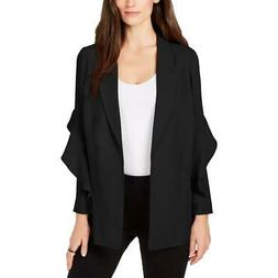 Alfani Womens Flounce Suit Separate Open-Front Blazer Jacket