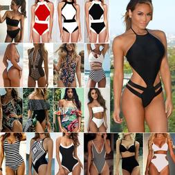 Womens One-Piece Bandage Bikini Push Up Monokini Swimsuit Ba
