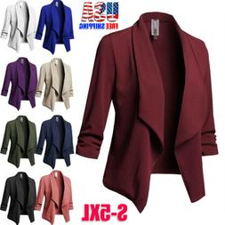 Womens Slim OL Suit Casual Blazer Jacket Coat Tops Outwear L
