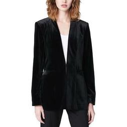 Calvin Klein Womens Velvet Evening One-Button Blazer Jacket