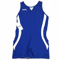 9be340809c63 Asics Womens XL Banner Sprinter Suit Singlet Blue White Trac