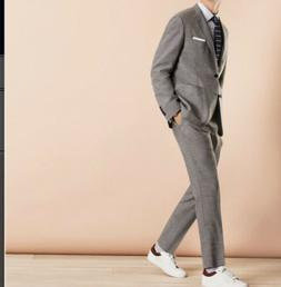 Brooks Brothers Wool-Blend Two-Button Slim Fit Suit Grey Siz
