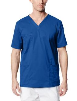 Cherokee Workwear Scrubs Unisex Stretch V-neck Top, Royal, L