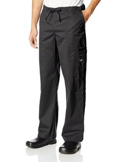 Cherokee Workwear Scrubs Unisex Stretch Cargo Pant, Black, X