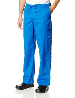 Cherokee Workwear Scrubs Unisex Stretch Cargo Pant, Royal, M