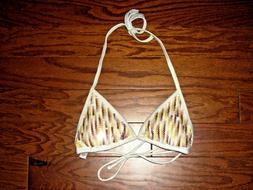 XS Victoria Secret SEQUINED PADDED TOP Swim suit Swimwear No