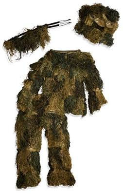 Red Rock Outdoor Gear Men's Youth Ghillie Suit, Woodland Cam